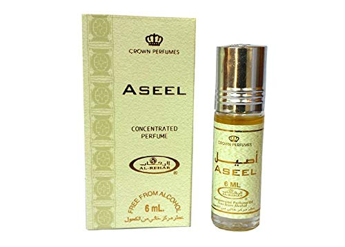 Al-Rehab Crown Roll on Attar Perfume Oil: Aseel 6ml