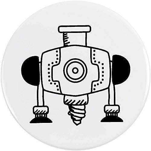 Azeeda 77mm 'Industriebohrer' Pin Knopf-Abzeichen (BB00045022)