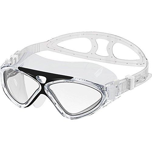 Schwimmbrille Erwachsene Schwimmen Brillen Professional Anti Nebel kein Auslaufen UV-Schutz einfach zu verstellen Schwimmbrille für Damen und Herren (Schwarz)