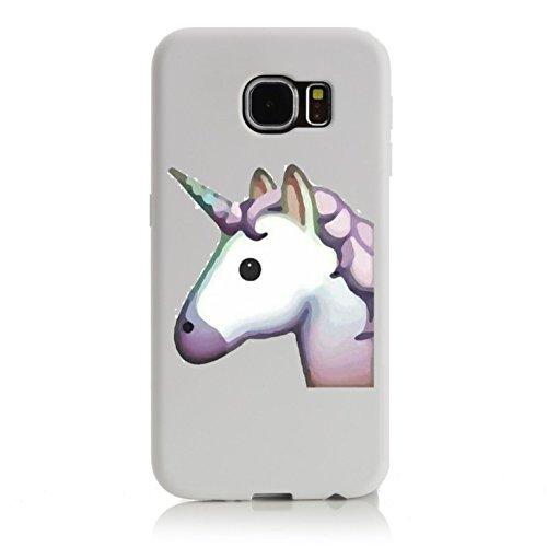 """Preisvergleich Produktbild Smartphone Case Samsung Galaxy S6 Edge """"Pferdekopf bzw. Einhorn, Pinkes/Rosa Einhornkopf Magisch schön"""", der wohl schönste Smartphone Schutz aller Zeiten."""