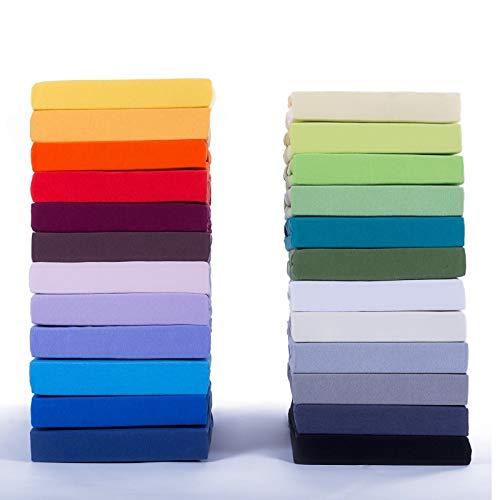 Etérea Jersey Spannbettlaken – Serie Comfort – 100% Baumwolle Spannbetttuch Farbe,