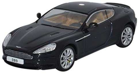 OXFORD DIECAST AMDB9002 Aston Martin DB9 Coupe Onyx