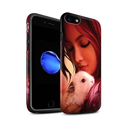 Officiel Elena Dudina Coque / Matte Robuste Antichoc Etui pour Apple iPhone 7 / Oui Maman/Lion/Petit Design / Les Animaux Collection Dans mes Bras/Sûr