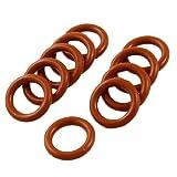 O-Ringe, Dichtungsringe, 10 Stück, 14 mm x 2,5 mm, Silikon, rot