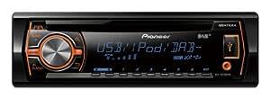 Pioneer DEH-X6500DAB CD-Tuner (Integrierter Digitalradio-Empfänger, RGB, Front-USB, Front AUX-IN,i-Pod/i-Phone-Steuerung)
