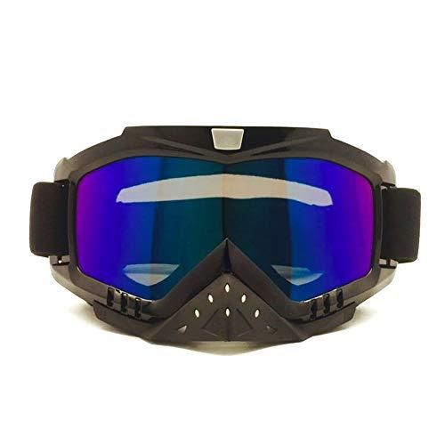 lle Motorradbrille mit Maske Airsoft Schutzbrille für Autofahren, Jagd, Angeln, Schießen, Brille, Polykarbonat, 6, Einheitsgröße ()