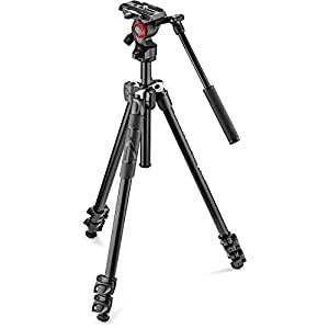 Manfrotto mk290lta3-v Kit 290 Light with Video Fluid Head, Black