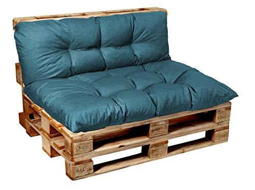 Garden factory Coussins pour Canape Euro Palette, Assise, Dossier, Set, extérieur intérieur Coussin accoudoir 60x40