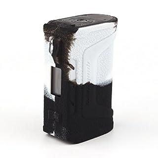 CEOKS für Geekvape Aegis Legend 200w Hülle, RutschfestSchützende Silikon-Hülle-Abdeckungs-Verpackungs-Haut für Geekvape Aegis Legend 200w Segeln Skin Ärmel Case Cover_Schwarz / Weiss