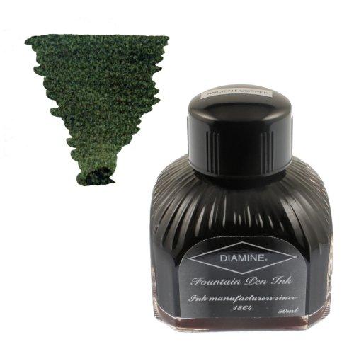 Diamine Ink Salamander,Grün Tinte,Schreibtinte im Tintenglas,80 ml