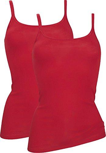 -con-ta- Unterhemd 2er-Pack Feinripp rot Größe 46
