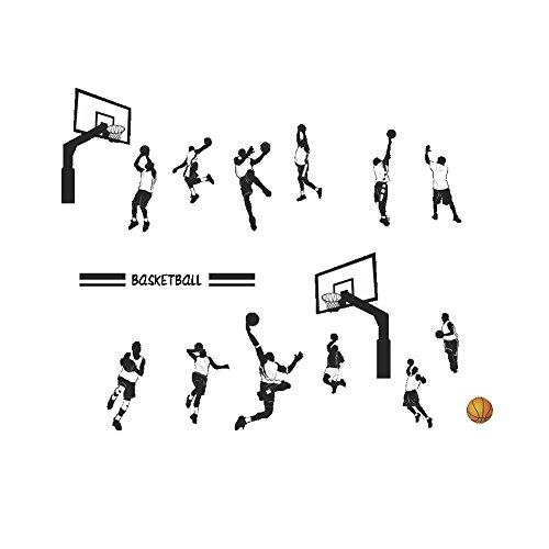 Wandaufkleber spielen basketball slam dunk sport wandaufkleber abnehmbare art dekore hausgarten küche zubehör dekorative aufkleber wandbilder (Basketball Slam Spiel Dunk)