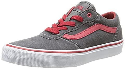 Vans Y MILTON (SUEDE) PEWTER/, Unisex-Kinder Sneakers, Grau ((Suede) pewter/