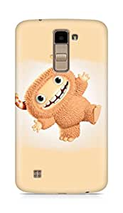 Amez designer printed 3d premium high quality back case cover for LG K10 (Funny cute Monster)