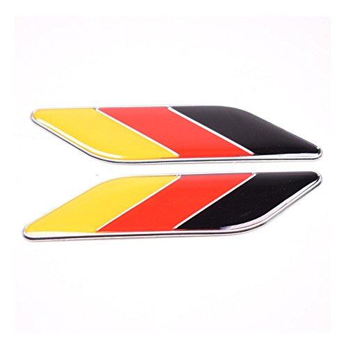 DSYCAR 1 Paar 3D Deutsche Flagge Auto aufkleber Logo Emblem Abzeichen Aufkleber Aufkleber Auto Styling DIY Dekoration Zubehör für Universal Cars Moto Bike Auto Styling Dekorative accessorie