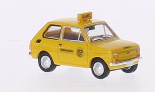 Fiat 126, ÖAMTC, Modellauto, Fertigmodell, Brekina Drummer 1:87