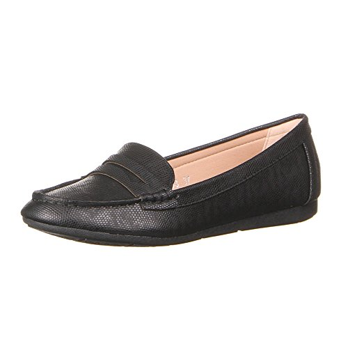 Chaussures 50163, mocassins femme Noir - Noir