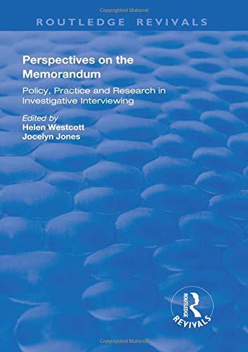 Perspectives on the Memorandum (Routledge Revivals) Westcott Video