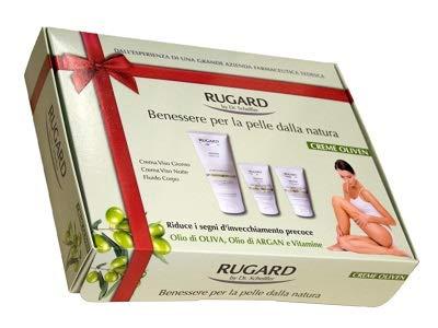 Rugard Creme Oliven Geschenkset für Gesicht Tagescreme Gesichtspflege Fluid Körper