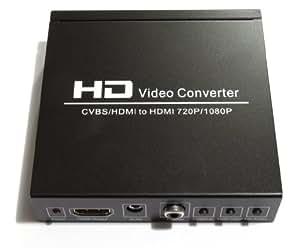 CVBS AV + HDMI TO HDMI PAL NTSC HD Converter 720P/1080P PS2 PS3 PSP WII XBOX360