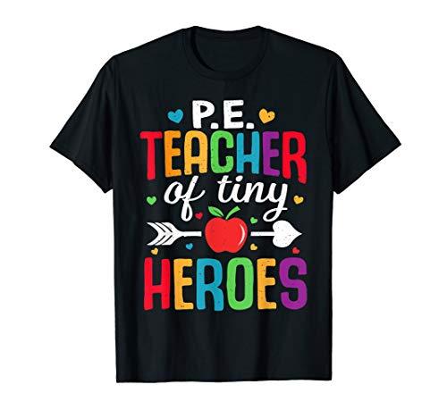 Sportlehrer zurück zum ersten Schultag Tiny Heroes 1st P E T-Shirt