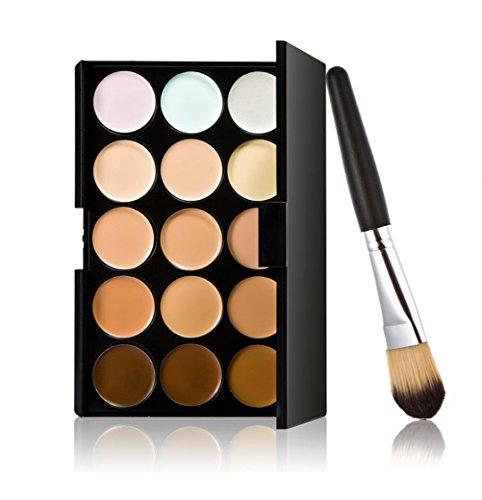 timesong Kit professionnel Palettes maquillage Crème Visage Correcteur + Pinceau Fond de Teint