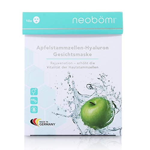 Neobömi Apfelstammzellen Hyaluron Maske - Gesichtsmaske Mit Hyaluronsäure - 10 Sachets