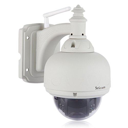 Sricam-SP015-Cmara-IP-de-Viginancia-inalmbrica-720P-CCTV-DomeWifi-IR-Cut-Vision-nocturna-H-264-Deteccin-de-movimiento-Color-Blanco