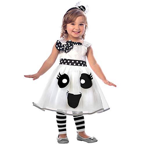 Generique - Niedliches Gespenst Kostüm für Mädchen weiß 98/104 (3-4 - Niedliches Gespenst Kostüm