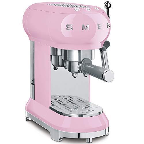 Smeg ECF01PKEU - Macchina per caffè espresso, colore: Rosa