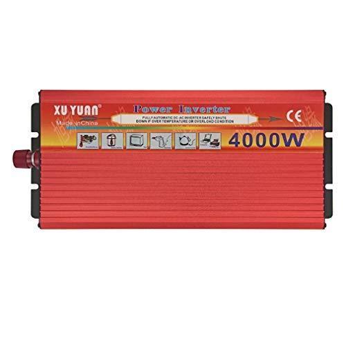ZHJYD 3000W Solar Inverter, 12V bis 220V Hochstromversorgung.Es gibt Zwei Steckdosen für das Auto. (Size : 12V/220V/4000W)