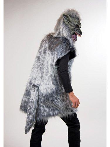 Kostüm grauer Wolf, Gr. L, Märchen Karneval Fasching Verkleidung böser Wolf mit Maske