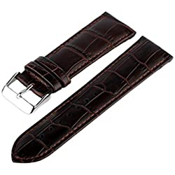 Marchel LM45 Leather Crocodile-Pattern Watch Strap 24 mm Brown
