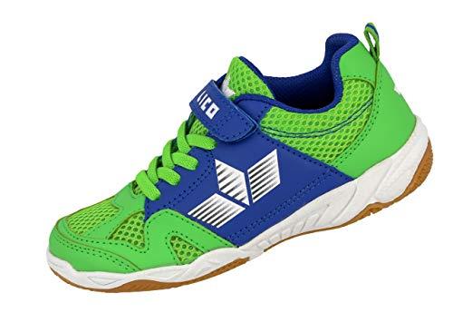 Lico Unisex-Kinder Sport VS Multisport Indoor Schuhe Grün/Blau, 32 EU