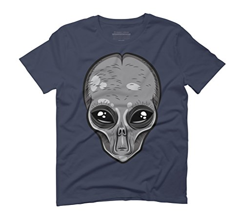 Grey Head Men's Graphic T-Shirt - Design By Humans Navy