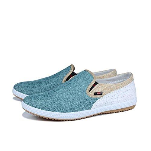 Herren Lässige Schuhe Tuchschuhe Flache Schuhe Lazy Schuhe Retro Atmungsaktiv Green