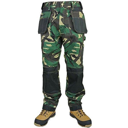 Arbeitshose Tuff Multitaschen Extreme Pro Hosen Dreifachnähte Arbeitshose (Combat Shorts-woodland Camo)