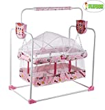 Flipzon Baby Moov (Mobile Swing) with Mosquito Net for New Born Baby Bassinet