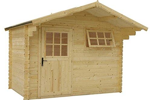 Gartenhaus / Blockh?tte Fonteyn Heleen Satteldach 300x200 cm unbehandelt