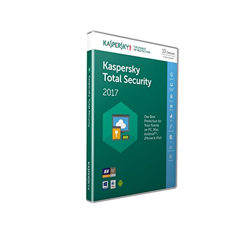 Kaspersky Total Security 2017 10 Devices, 1 Year (PC/Mac/Android)