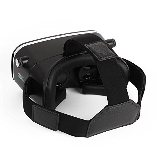 Aukey VR-O1 Virtual-Reality-Brille für iPhone 6S / 6 Plus / 6 / 5S / 5C / 5 / Samsung, Schwarz