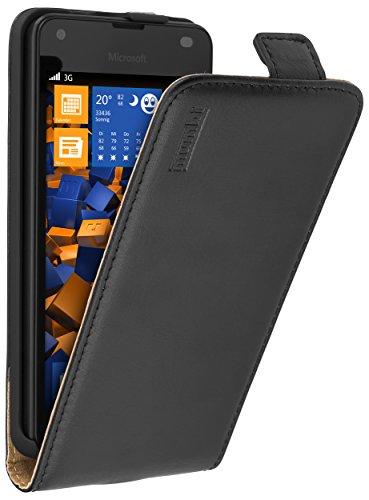 mumbi PREMIUM Leder Flip Case für Microsoft Lumia 550 Tasche