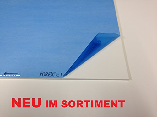 1,0 mm Forex ® classic weiss Hartschaum Platte Trennwand Tafelformat 1220 x 610 mm PVC