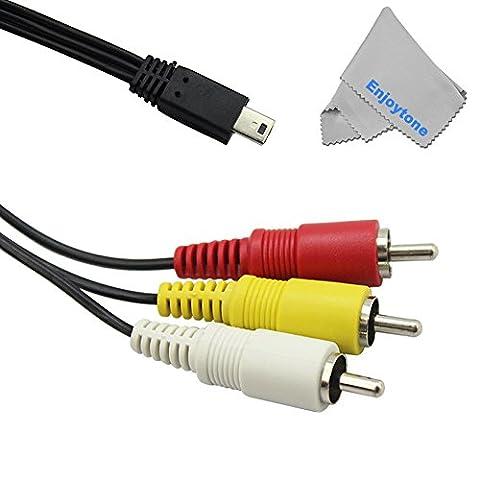 Fomito 6broches Câble AV 1,5m Mini USB à 3RCA Câble Audio et vidéo pour appareils photo Canon EOS 60d 70d 700d 600d 100d SX50SX60HS G1X Mark II G7X G165DIII