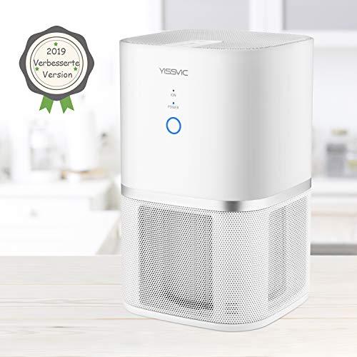 Yissvic Luftreiniger Air Purifier 5-Stufen-Filterung für 99,97% Filterleistung mit Aktivkohle und HEPA-Kombifilter Ideal für Allergiker und Raucher Verpackung MEHRWEG