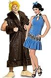 Fancy Me Paar Herren & Damen Kostüm Betty und Barney's Schutt The Flintstones Prähistorisch Verkleidung Outfit - Mehrfarbig, Ladies UK 6-8 & Mens XL
