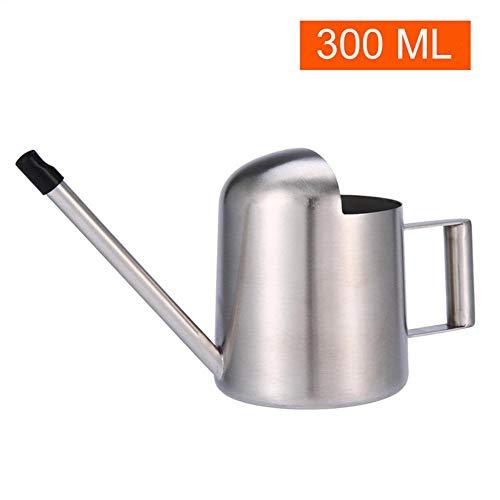 300ml Gießkanne aus Metall - Mini-Gießkanne aus rostfreiem Stahl Langes Mundwasser für Topfpflanzen Gießkanne für Büro-Zimmerpflanzen