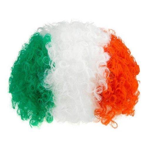 Irland St Patricks Grün Weiß& Orange Lockig Kostüm Perücke (Kostüme Online Irland)