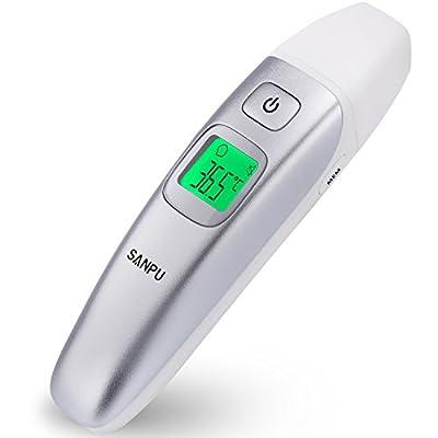 SANPU digitales medizinisches Infrarotstirn- und Ohrthermometer für Babys, Kinder und Erwachsene mit Fieberanzeige- CE und FDA geprüft