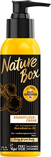 Nature Box Nährpflege-Creme Macadamia-Öl, 3er Pack (3 x 150 ml)